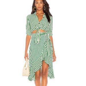 Faithfull the Brand Tramonti Skirt in Zeus Stripe